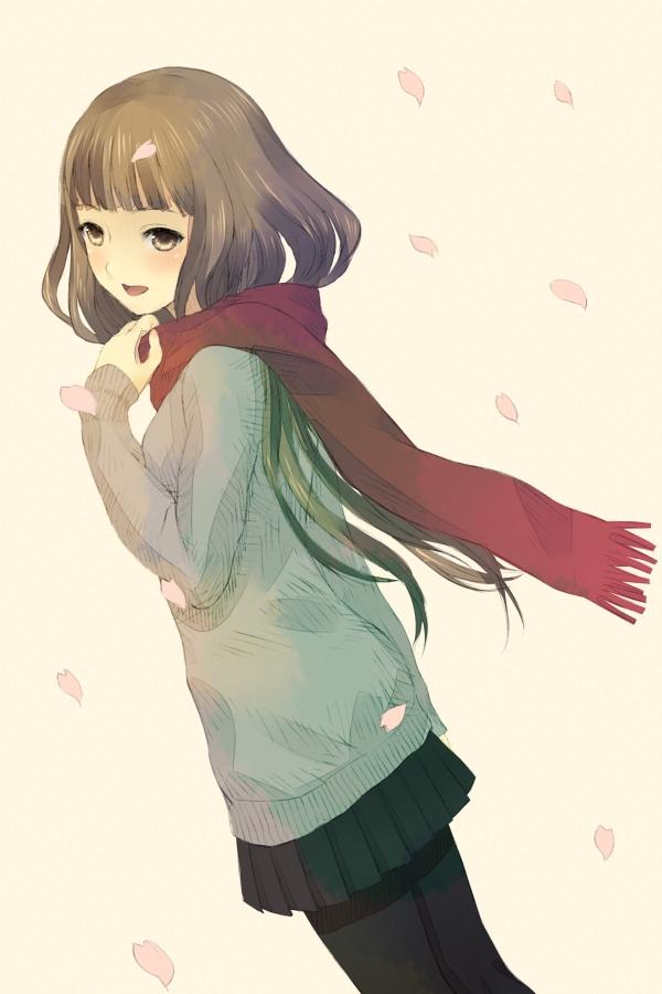 Tags: Anime, Suzu (Artist), Supercell, Gazelle Nagi, Sayonara Memories, Mobile Wallpaper