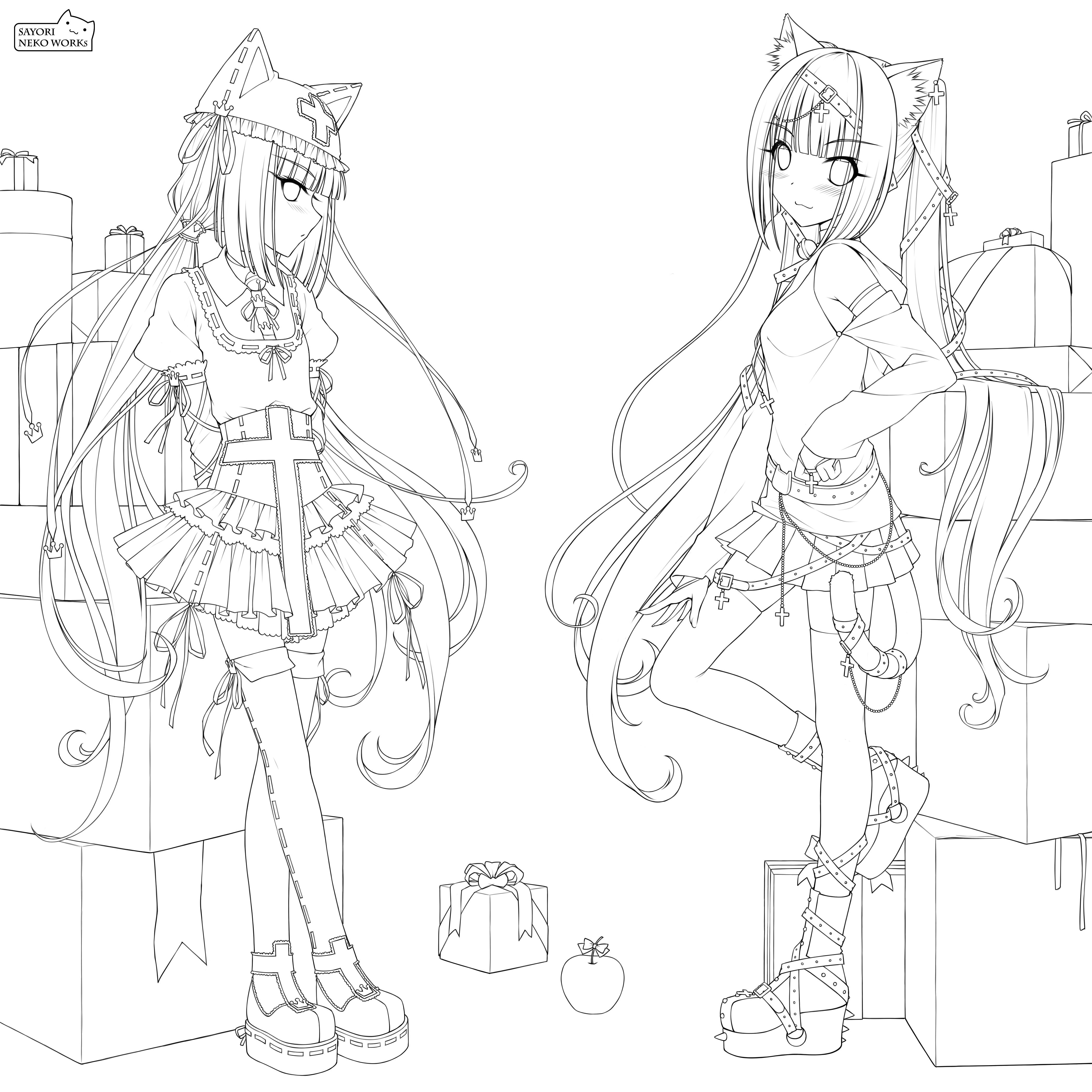 Zerochan Lineart : Sayori image  zerochan anime board