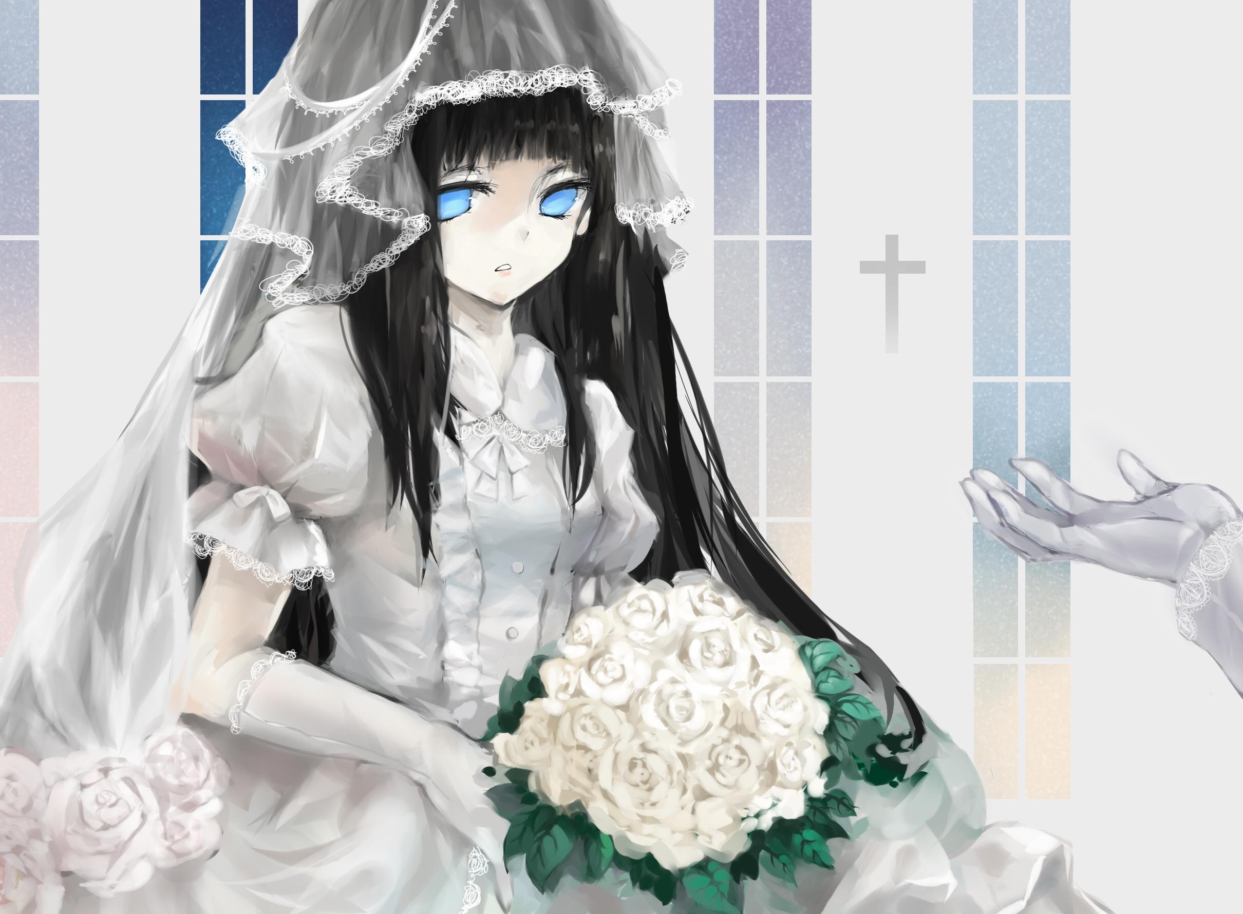 wedding dress, long hair | page 9 - zerochan anime image board