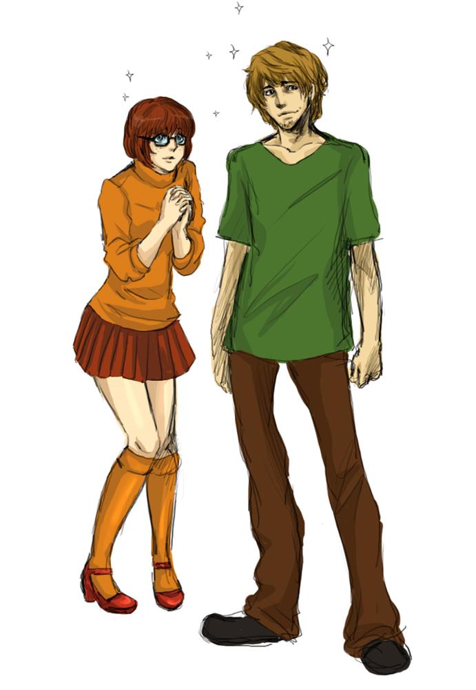 Scooby Doo Velma and Shaggy