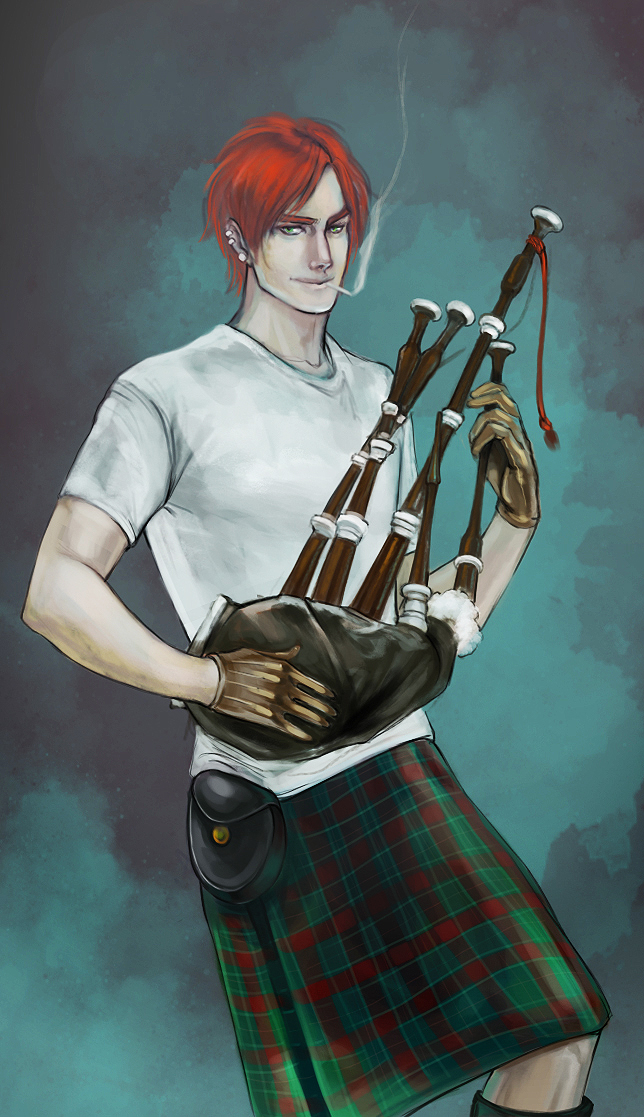 Tags: Anime, Axis Powers: Hetalia, Scotland, Kilt, Bagpipes, deviantART, Mobile Wallpaper