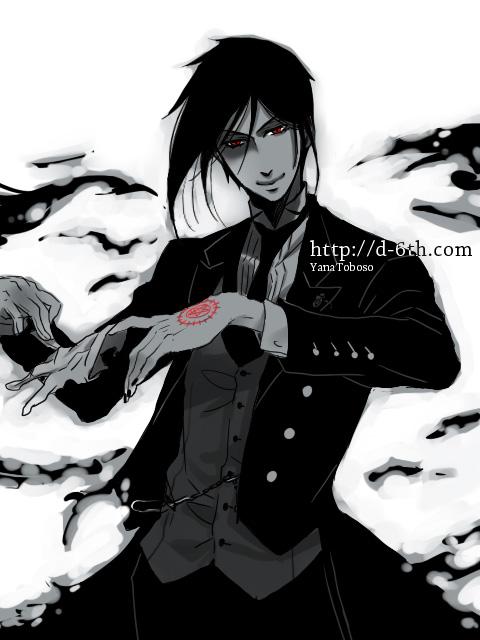 Tags: Anime, Toboso Yana, Kuroshitsuji, Sebastian Michaelis, Tailcoat, Demon Seal, Official Art