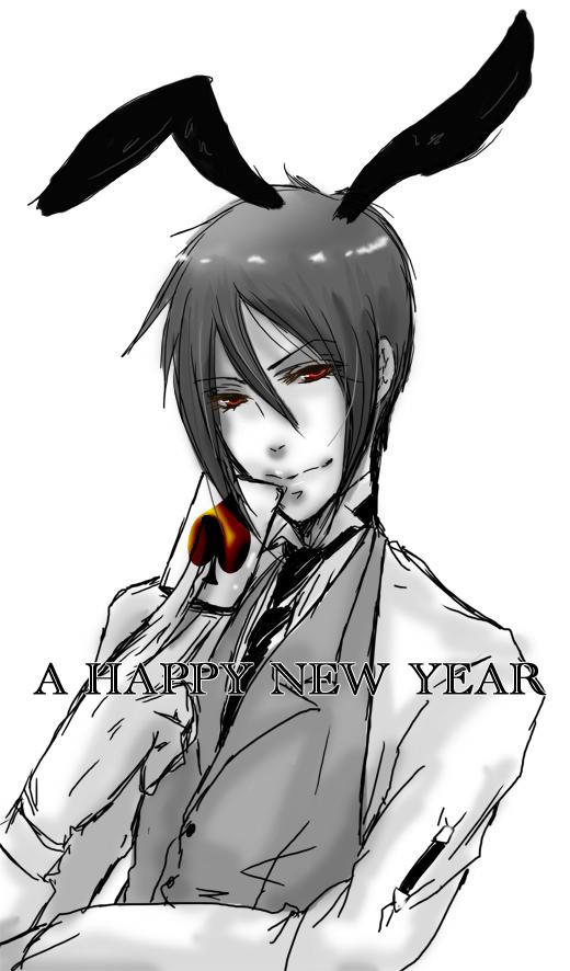 Tags: Anime, Kuroshitsuji, Sebastian Michaelis, Mobile Wallpaper, Happy 2011