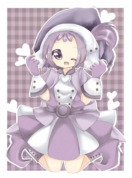 Tags: Anime, Ojamajo DoReMi, Segawa Onpu, Purple Outfit, Checkered, Checkered Background, Pixiv Id 3180836