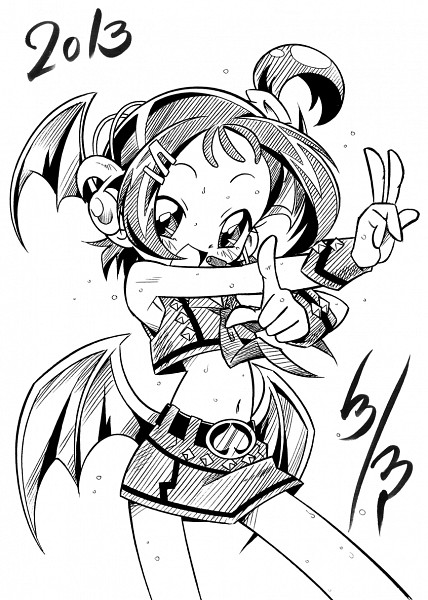 Tags: Anime, White, Ojamajo DoReMi, Segawa Onpu, Black, Pixiv Id 434769