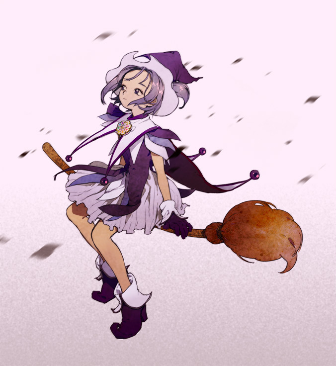 Tags: Anime, Sad, Witch, Ojamajo DoReMi, Segawa Onpu, Broom, Broom Riding
