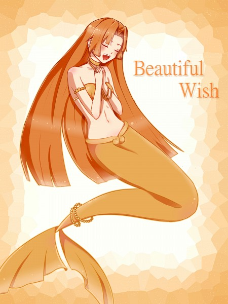 Tags: Anime, Mermaid Melody Pichi Pichi Pitch, Mermaid, Seira (Mermaid Melody), Singer, Kneeling, Seashell