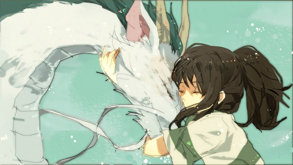 Tags: Anime, Ari 2e3, Studio Ghibli, Sen to Chihiro no Kamikakushi, Ogino Chihiro, Haku (Dragon), Haku (Sen to Chihiro no Kamikakushi)
