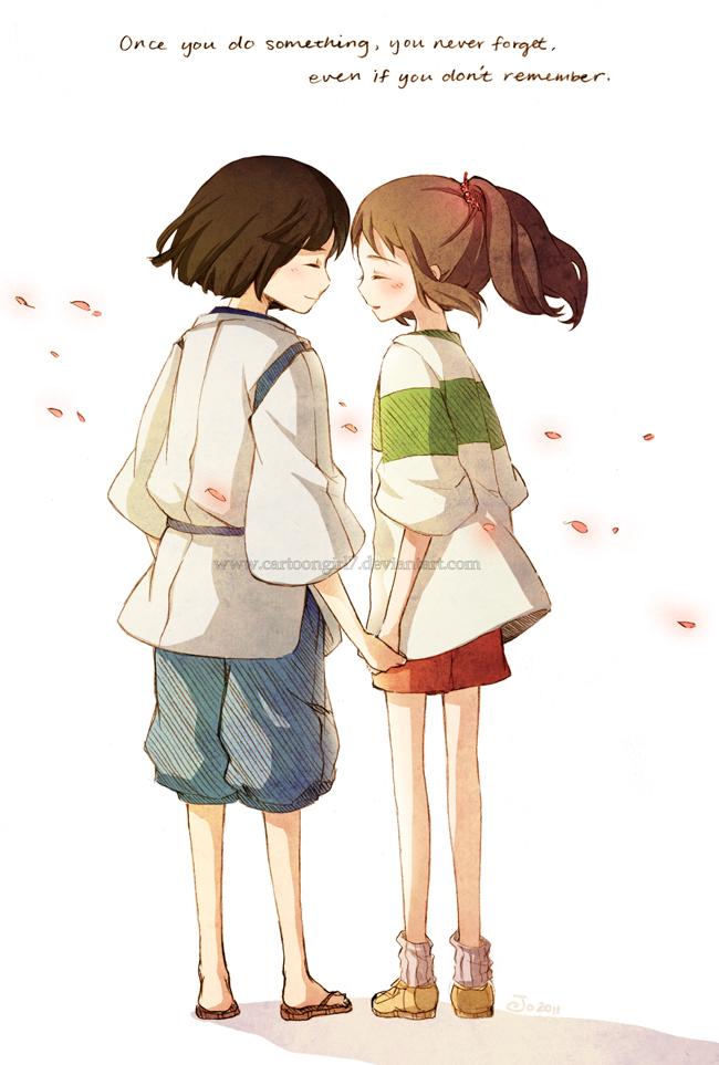 Tags: Anime, Cartoongirl7, Studio Ghibli, Sen to Chihiro no Kamikakushi, Ogino Chihiro, Haku (Sen to Chihiro no Kamikakushi)