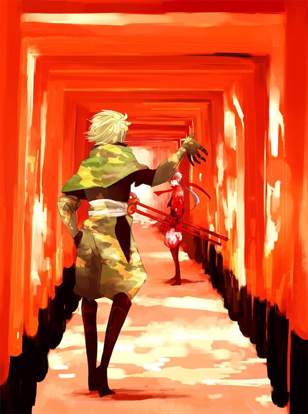 Tags: Anime, Sengoku Basara, Sarutobi Sasuke, Sanada Yukimura (Sengoku Basara), Multiple Torii, Devil Kings