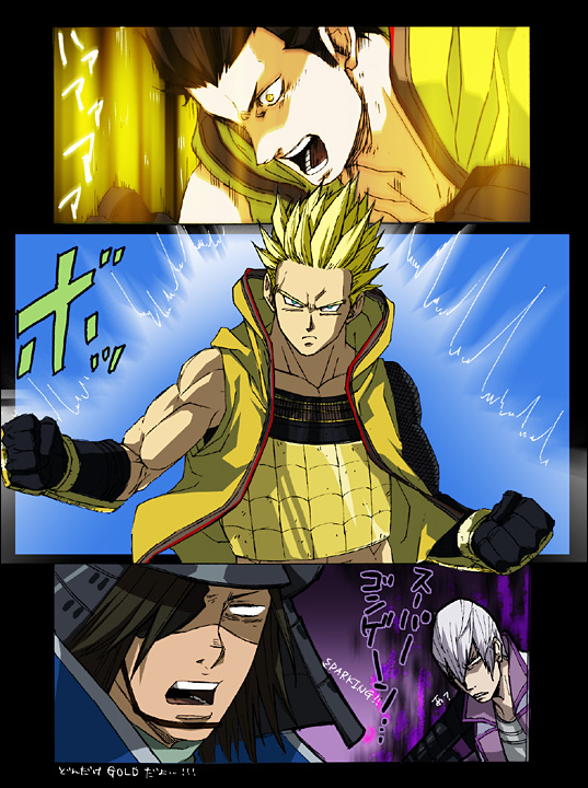 Tags: Anime, Kumonosuke, DRAGON BALL, Sengoku Basara, Ishida Mitsunari (Sengoku Basara), Tokugawa Ieyasu (Sengoku Basara), Date Masamune (Sengoku Basara), DRAGON BALL (Parody), Super Saiyan, Devil Kings