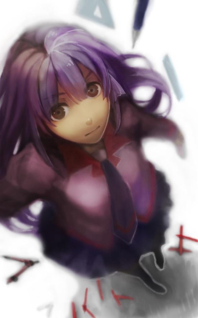 Tags: Anime, Pixiv Id 768654, Monogatari, Senjougahara Hitagi