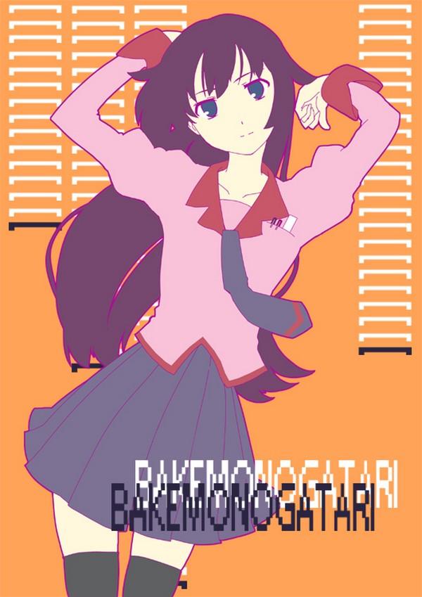 Tags: Anime, Uro, Monogatari, Senjougahara Hitagi