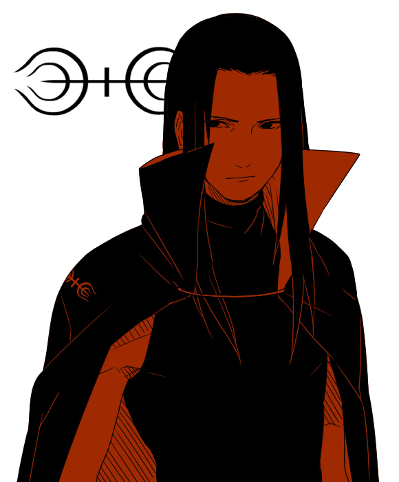 Tags: Anime, Mannmaruu, NARUTO, Senju Hashirama, Black Shirt, Clan Symbol, Long Coat