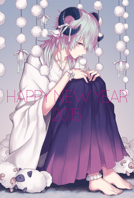 Tags: Anime, Monoxi, DRAMAtical Murder, Ren (DMMd), Seragaki Aoba, Pixiv, Fanart, Mobile Wallpaper, Fanart From Pixiv, Happy 2015