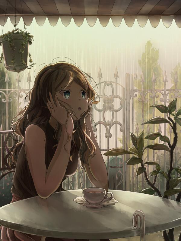 Tags: Anime, Pixiv Id 10537369, Pokémon, Serena (Pokémon), Quagsire, Mobile Wallpaper, Pixiv, Fanart, Fanart From Pixiv