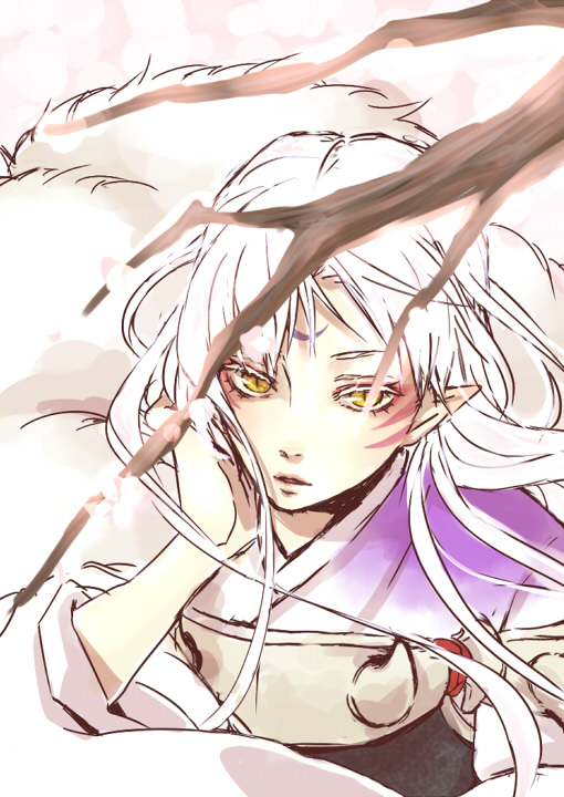 Tags: Anime, Pixiv Id 2714147, InuYasha, Sesshoumaru, Mobile Wallpaper
