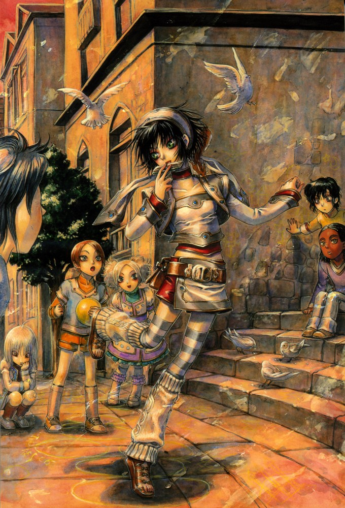 Tags: Anime, Shibamoto Thores, Trinity Blood, Seth Nightroad, Mobile Wallpaper, Official Art
