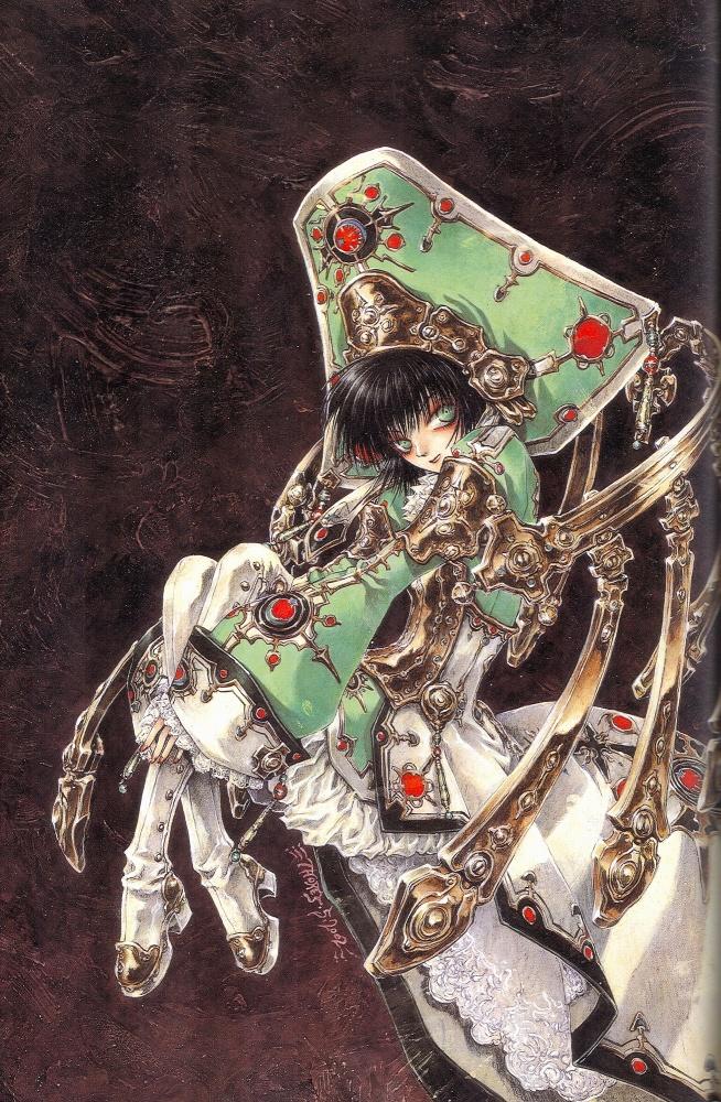 Tags: Anime, Shibamoto Thores, Trinity Blood, Seth Nightroad, Crusnik 03, Mobile Wallpaper, Official Art