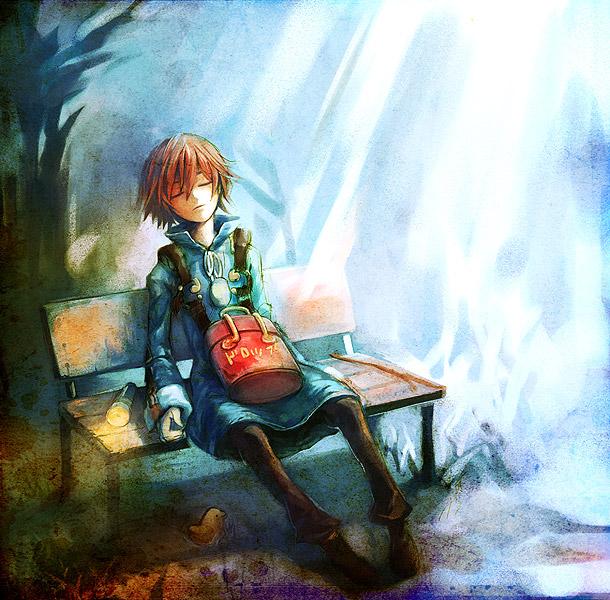 Tags: Anime, Uroko (Mnr), Namco, Fragile: Sayonara Tsuki no Haikyo, Seto (Fragile), Flashlight, Pixiv, Fanart
