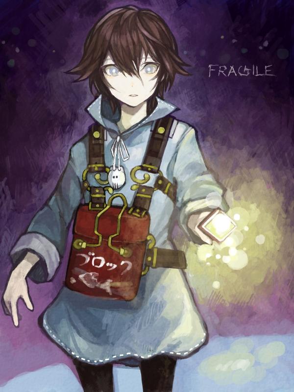 Tags: Anime, Toohoku, Fragile: Sayonara Tsuki no Haikyo, Seto (Fragile), Flashlight, Fanart From Pixiv, Pixiv, PNG Conversion, Fanart