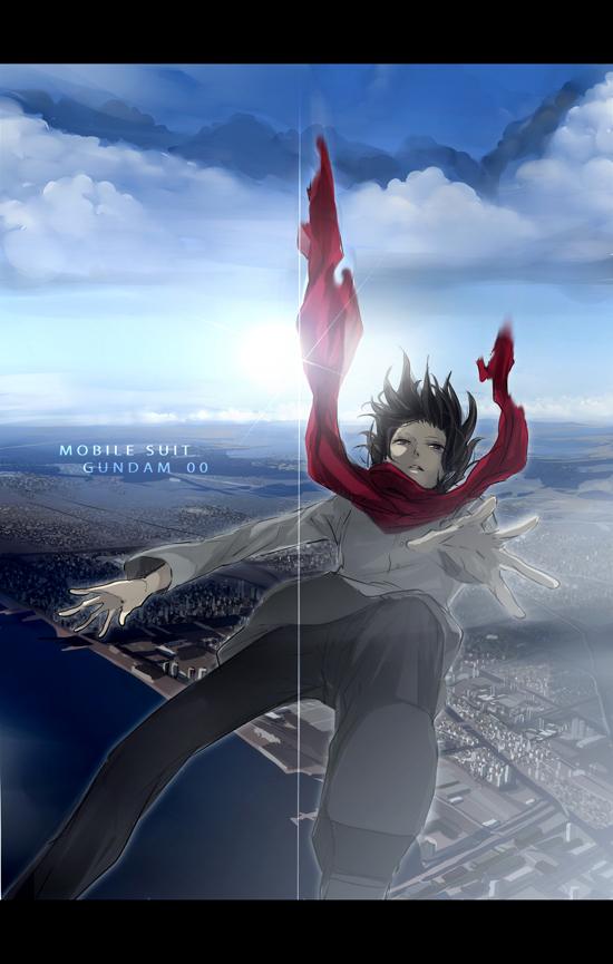 Tags: Anime, Gori Matsu, Mobile Suit Gundam 00, Setsuna F. Seiei, Mobile Wallpaper, Gundam Meisters