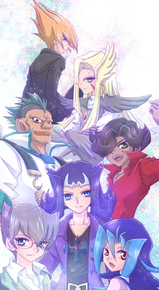 Tags: Anime, Pixiv Id 2341644, Yu-Gi-Oh! ZEXAL, Yu-Gi-Oh!, Alito, Kamishiro Ryoga, Vector (Yu-Gi-Oh! ZEXAL), Durbe, Kamishiro Rio, Girag, Mizael, Fanart, Pixiv