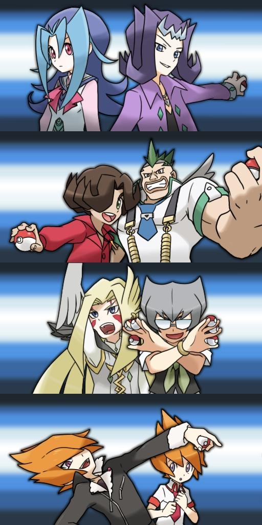 Tags: Anime, Pixiv Id 1197810, Yu-Gi-Oh!, Yu-Gi-Oh! ZEXAL, Alito, Vector (Yu-Gi-Oh! ZEXAL), Kamishiro Ryoga, Durbe, Shingetsu Rei, Girag, Mizael, Kamishiro Rio, Pokémon (Parody)