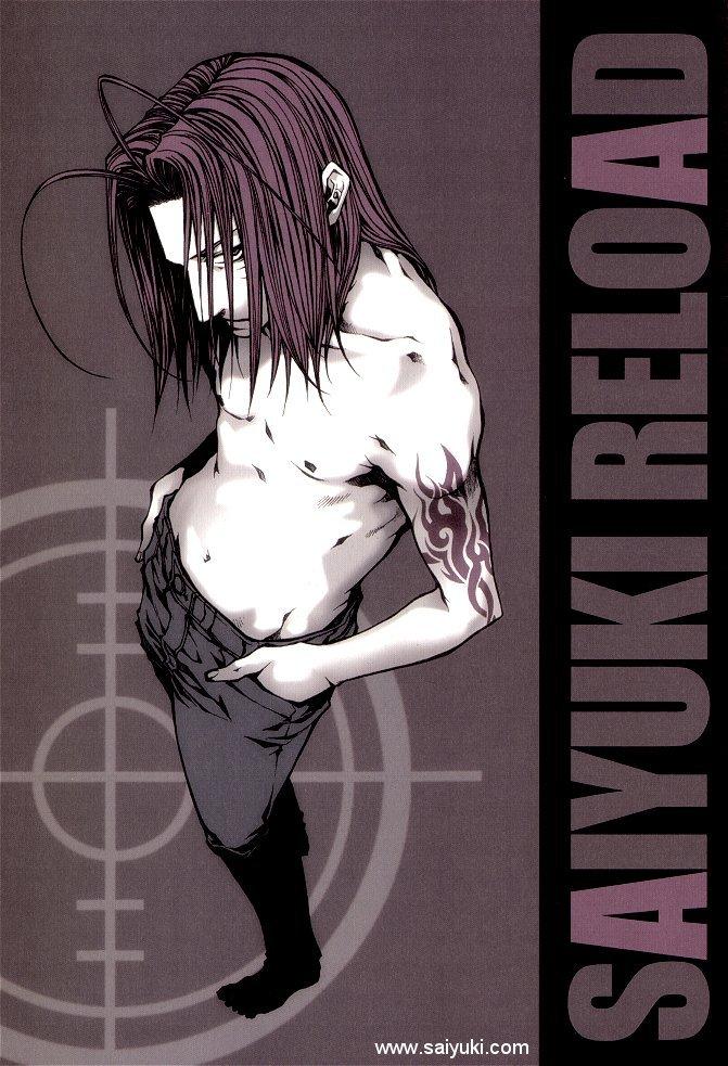Tags: Anime, Kazuya Minekura, Saiyuki, Sha Gojyo, Mobile Wallpaper