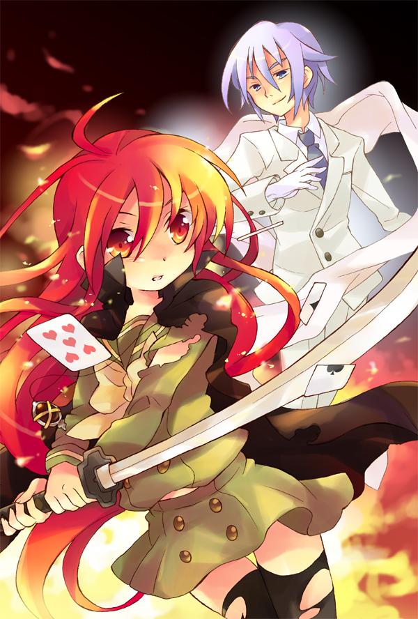Tags: Anime, Tachitsu Teto, Shakugan no Shana, Shana, Friagne, Burning-eyed Shana