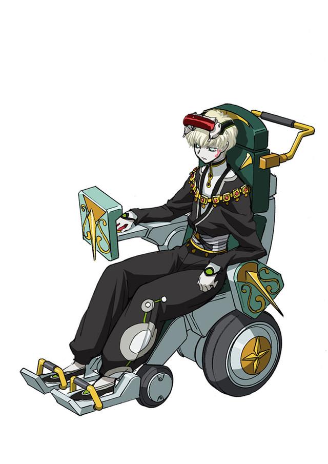 Tags: Anime, Kimura Takahiro, CODE GEASS: Hangyaku no Lelouch, Code Geass: Fukkatsu no Lelouch, Shalio, Wheelchair, Wheel, Official Art