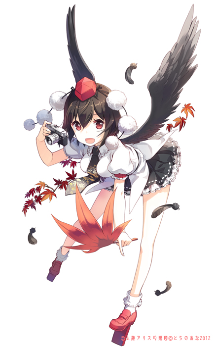 Tags: Anime, H2SO4, Touhou, Shameimaru Aya, Pixiv, Mobile Wallpaper, Fanart From Pixiv, Fanart, Aya Shameimaru