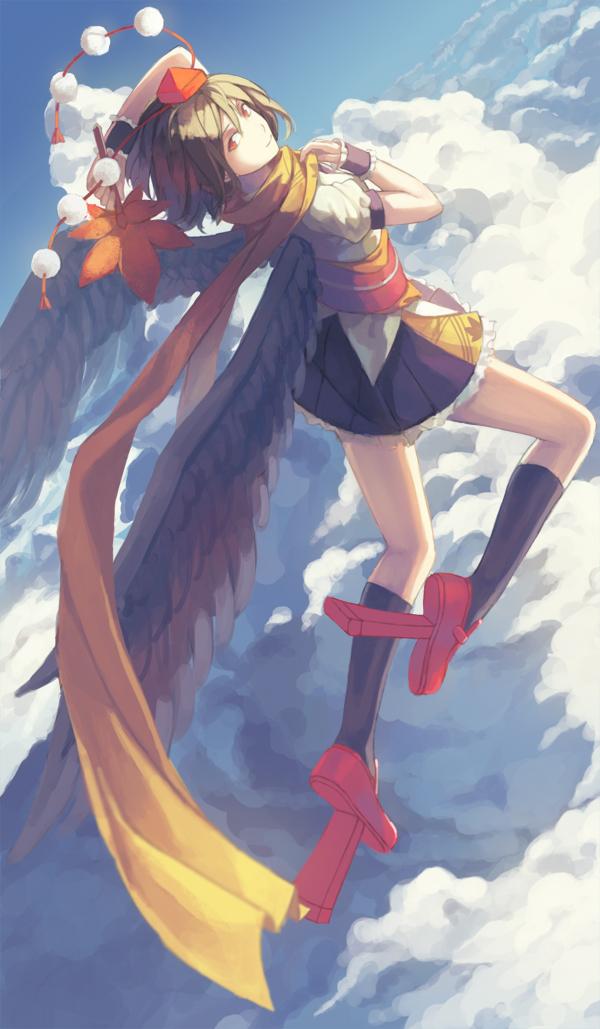 Tags: Anime, LLC, Touhou, Shameimaru Aya, Pixiv, Mobile Wallpaper, Fanart From Pixiv, Fanart, Aya Shameimaru
