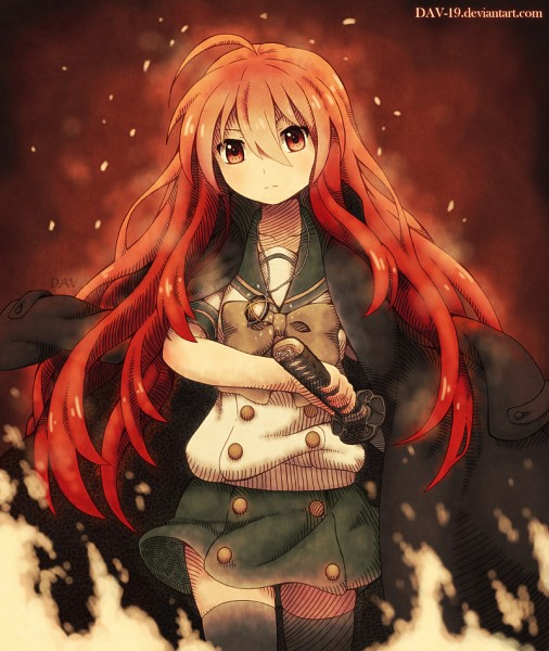 Tags: Anime, DAV-19, Shakugan no Shana, Shana, Coat Over Shoulders