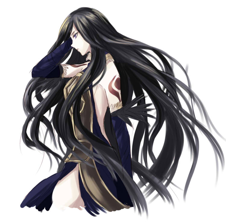 Картинки аниме девушки с черными длинными волосами