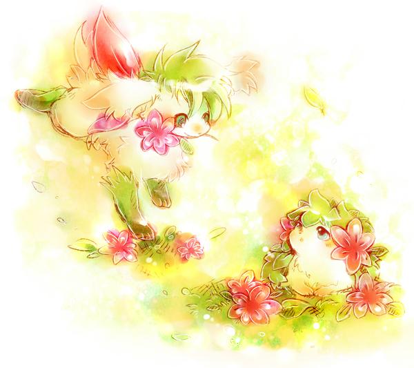 Tags: Anime, Dufy 0110, Pokémon, Shaymin, Flower In Mouth, Pixiv, Fanart From Pixiv, Fanart, Legendary Pokémon