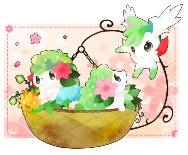 Tags: Anime, Mitiruni, Pokémon, Shaymin, PNG Conversion, Fanart, Legendary Pokémon, Fanart From Pixiv, Pixiv