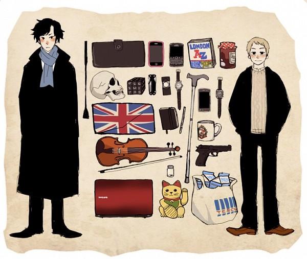 Tags: Anime, Sherlock BBC, Sherlock Holmes, Benedict Cumberbatch (Actor), Dr. John Watson, Martin Freeman (Actor), Sherlock Holmes (Character)