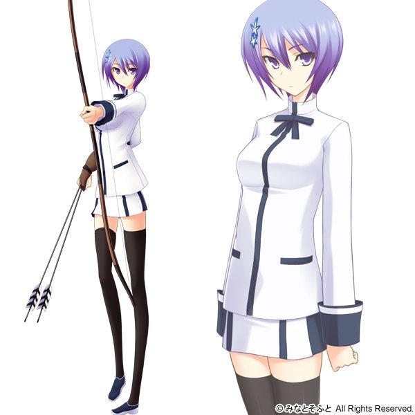 Tags: Anime, Kawagishi Keitarou, Minato Soft, Maji de Watashi ni Koi Shinasai!, Shiina Miyako, Official Art