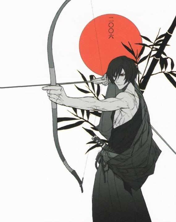 Tags: Anime, Nitro+CHiRAL, Togainu no Chi, Shiki (TNC), Bow (Weapon), Arrow, Archery