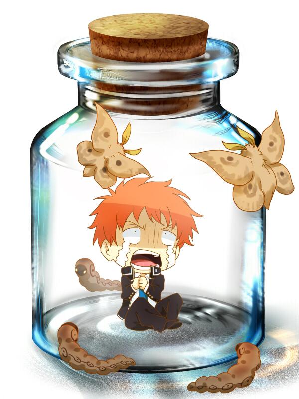 Tags: Anime, Lukias, Ao no Exorcist, Shima Renzou, Pixiv Bottle, In a Bottle, Worms, Moth, Pixiv, Wallpaper, Fanart, Fanart From Pixiv
