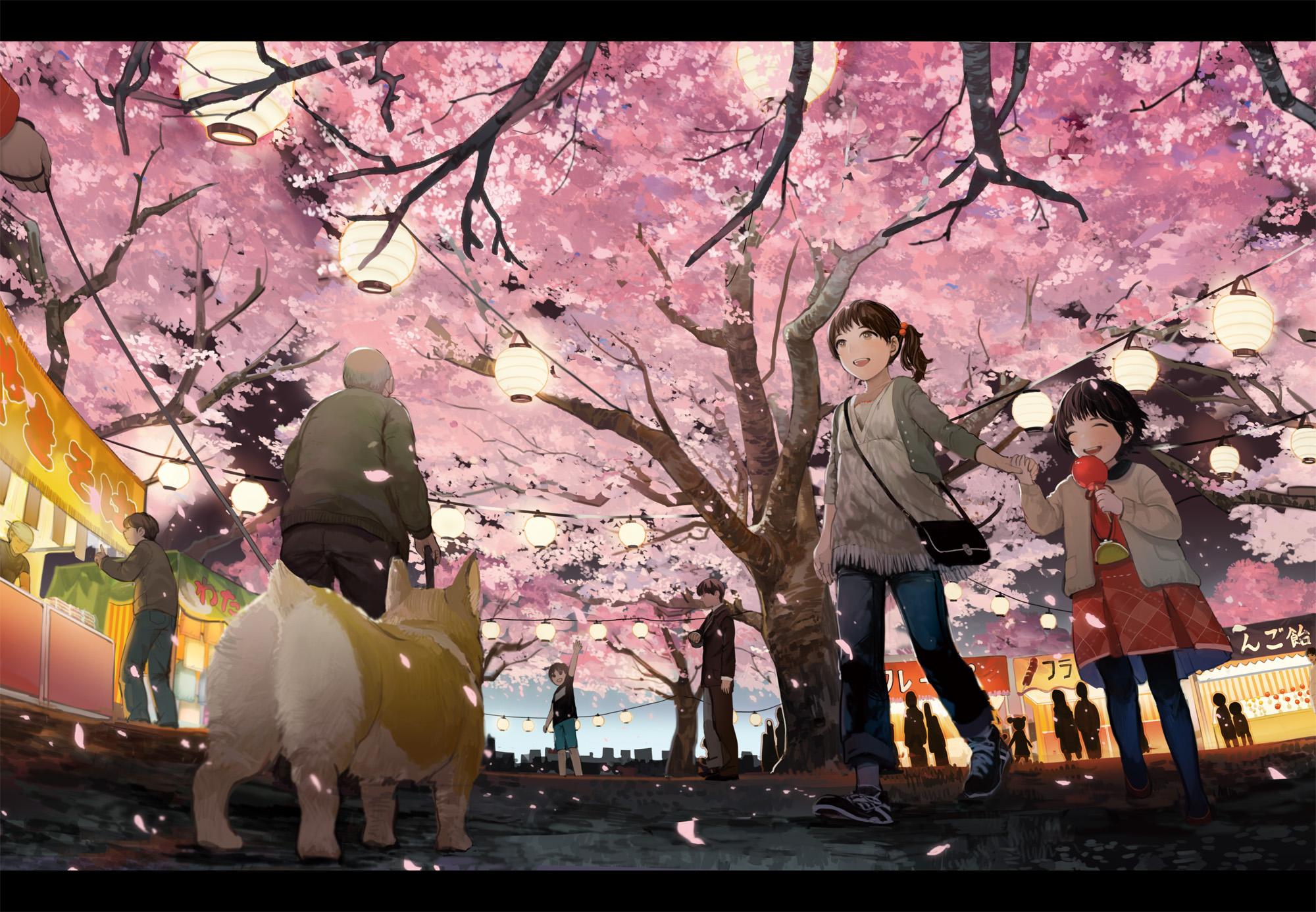 Tags Anime Shimetta Oshime Festival Spring Original Pixiv