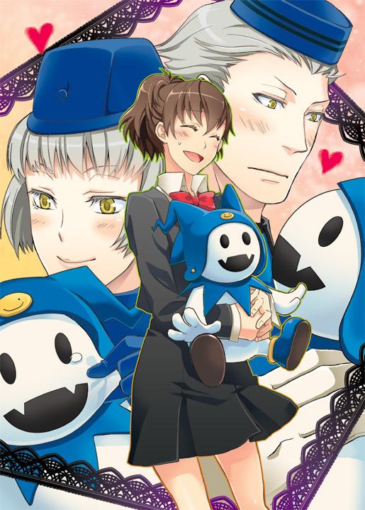 Tags: Anime, Persona 3 Portable, Shin Megami Tensei: PERSONA 3, Jack Frost (Shin Megami Tensei), Theodore, Female Protagonist (PERSONA 3), Elizabeth (PERSONA 3), Velvet Room, Artist Request