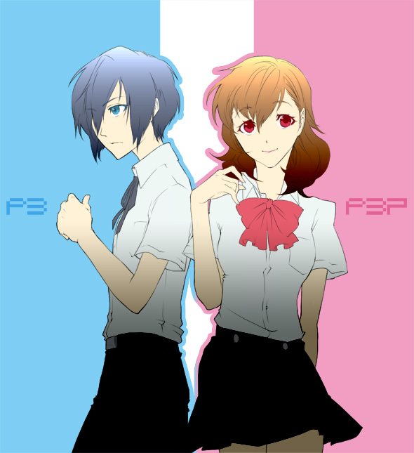 Tags: Anime, Yamada83, Persona 3 Portable, Shin Megami Tensei: PERSONA 3, Female Protagonist (PERSONA 3), Yuuki Makoto (PERSONA 3), Fanart