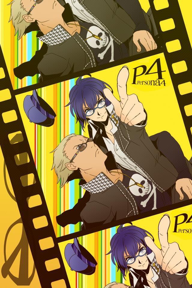 Tags: Anime, Pixiv Id 421208, Shin Megami Tensei: PERSONA 4, Shirogane Naoto, Tatsumi Kanji, Mobile Wallpaper, Fanart, Pixiv
