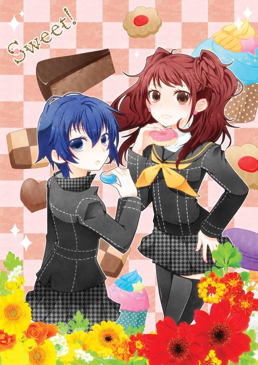 Tags: Anime, Bongore, Shin Megami Tensei: PERSONA 4, Kujikawa Rise, Shirogane Naoto, Fanart From Pixiv, Fanart, Pixiv