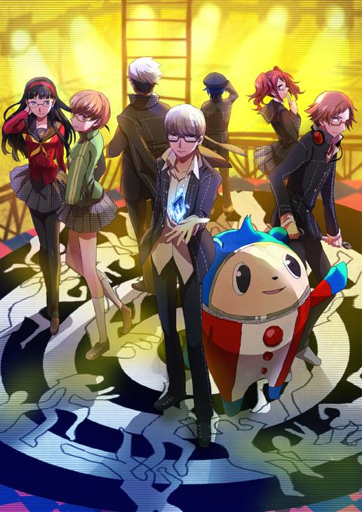 Tags: Anime, Shion (Kizuro), Shin Megami Tensei: PERSONA 4, Kujikawa Rise, Hanamura Yousuke, Shirogane Naoto, Kuma, Tatsumi Kanji, Satonaka Chie, Narukami Yu, Amagi Yukiko, Mobile Wallpaper, PNG Conversion