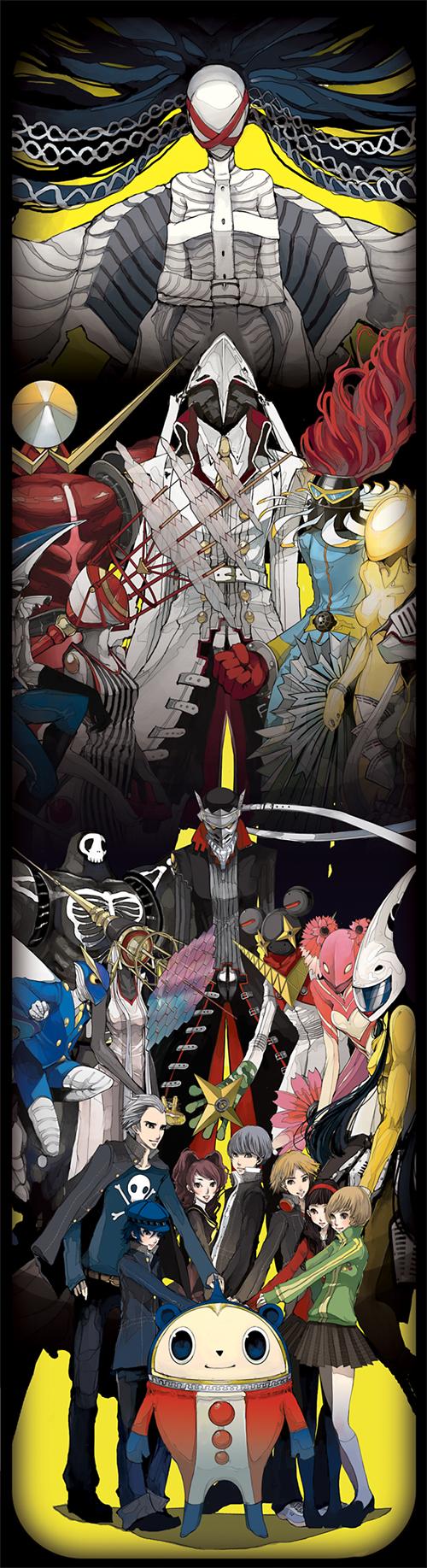 Tags: Anime, Shin Megami Tensei: PERSONA 4, Himiko (Persona), Shirogane Naoto, Konohana Sakuya, Kanzeon (Persona), Izanagi, Take-mikazuchi, Sukuna Hikona, Amaterasu (Persona), Narukami Yu, Jiraiya (Persona), Satonaka Chie