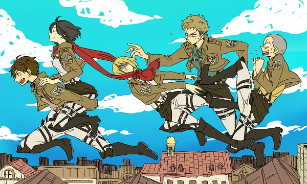 Tags: Anime, Pixiv Id 1056634, Shingeki no Kyojin, Eren Jaeger, Conny Springer, Mikasa Ackerman, Armin Arlert