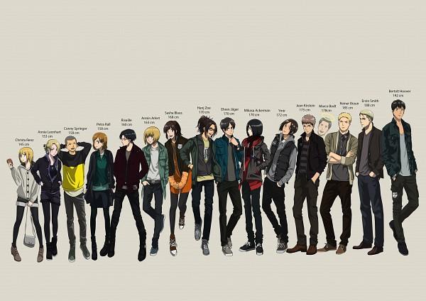 Tags: Anime, Pixiv Id 5474262, Shingeki no Kyojin, Reiner Braun, Levi, Conny Springer, Jean Kirschstein